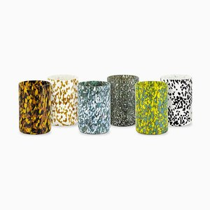 Macchia Su Macchia Jungle Glasses by Stories of Italy, Set of 6