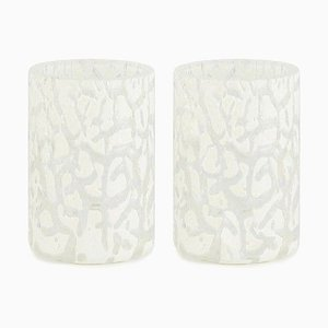 Cracklè Chalk Glasses by Stories of Italy, Set of 2