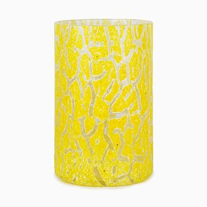 Cracklè Lemon Tall Vase by Stories of Italy