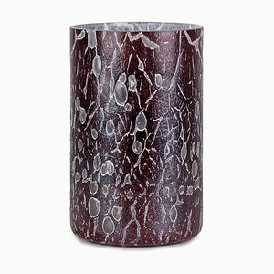 Cracklè Eggplant Tall Vase by Stories of Italy