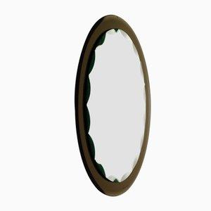 Italienischer Mid-Century Spiegel aus Geschliffenem Kristallglas von Fontana Arte, 1950er