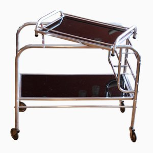 French Art Deco Bar Trolley, 1940s