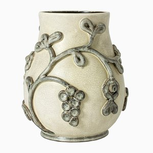 Schwedische Vintage Keramikvase von Eva Jancke-Björk für Bo Fajans