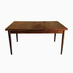 Extendable Rosewood Dining Table from Hornslet Møbelfabrik, 1960s