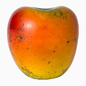 Mid-Century Stoneware Apple Sculpture by Hans Hedberg
