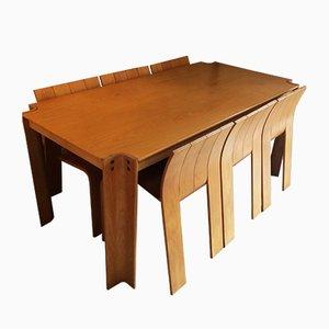 Strip Dining Chairs by Gijs Bakker for Castelijn, 1970s, Set of 7