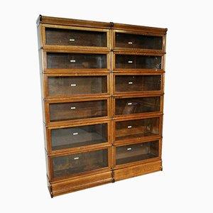 Antique Oak Modular Bookcase from Globe Wernicke
