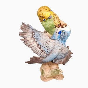 Porcelain Figure of Budgies by Göbel, 1970s