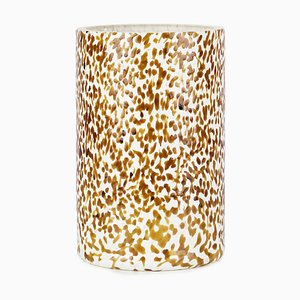 Macchia Su Macchia Ivory & Amber Tall Vase by Stories of Italy