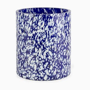 Macchia Su Macchia Ivory & Blue Medium Vase by Stories of Italy