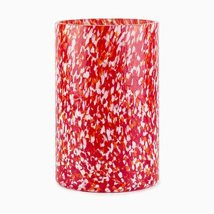 Macchia Su Macchia Red & Brown & Orange & Ivory Tall Vase by Stories of Italy
