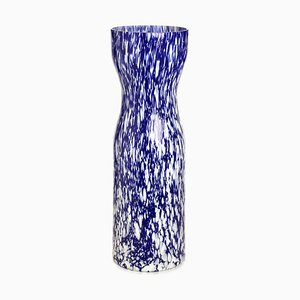 Macchia Su Macchia Ivory & Blue Silhouette Vase by Stories of Italy