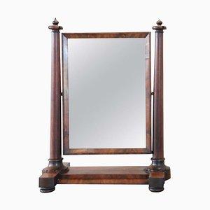 Specchio da toeletta in mogano antico, XIX secolo