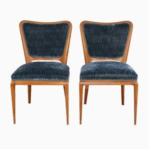 Nobel Wohnzimmer Set aus Holz und Stoff von Osvaldo Borsani für Arredameni Borsani Varedo, 1950er, 2er Set