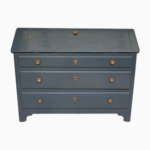 Antique Anthracite Secretaire
