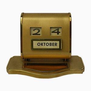 Calendario perpetuo in ottone, anni '50