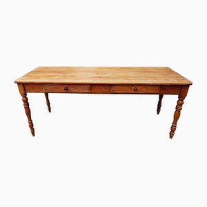 Antique Rustic Pitch Pine Refectory Dining Table