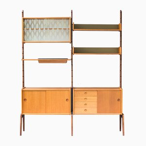 Mid-Century Norwegian Teak Model Ergo Wall Unit by John Texmon for Blindheim Møbelfabrikk, 1960s