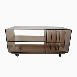 Vintage Acrylic Audio Rack Sideboard, 1970s