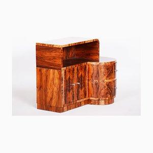 Art Deco Brown Walnut Cabinet, 1930s