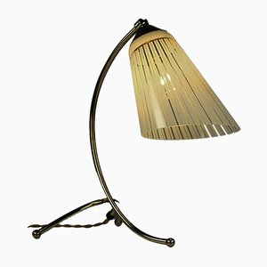 Vintage Brass Crowfoot Table Lamp, 1950s
