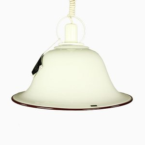 Vintage Ceiling Lamp with Glass Shade from Doria Leuchten