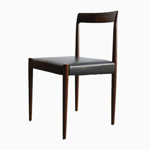 Black Skai & Rosewood Dining Chairs from Lübke, 1960s, Set of 6