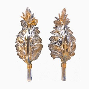 Gilded Sconces by Archimede Seguso, 1950s, Set of 2