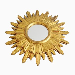 German Giltwood Sunburst Mirror, 1950s