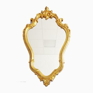 Vintage Baroque Style German Gilded Mirror, 1950s