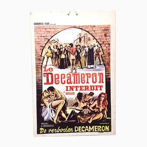 Mid-Century Erotic Movie Poster Le Decameron