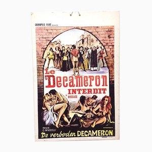 Mid-Century Erotik Filmplakat Le Decameron