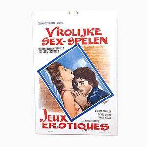 Mid-Century Erotische Filmposter Vrolijke Sex Spelen