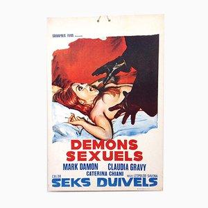 Poster erotici Mid-Century con demoni del film