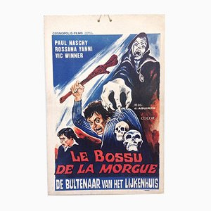 Mid-Century Erotic Movie Poster Le Bossu de la Morgue