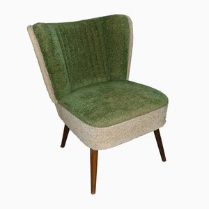 Small Mid-Century Green and Beige Club Chair, 1950s