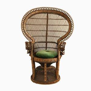 Emmanuelle Peacock High Back Armchair, 1970s