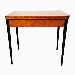 French Art Deco Birdseye Maple Game Table, 1930s