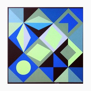 Silkscreen by Victor Vasarely, 1965