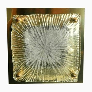 Ceiling or Wall Light in Steel & Glass from La Murrina, 1970s