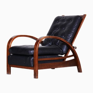 Art Deco Beech Positioning Armchair, 1930s