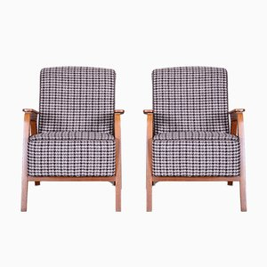 Mid-Century Beech Armchairs, 1940s, Set of 2