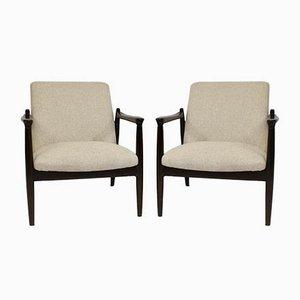 Model GFM-142 Lounge Chairs by Edmund Homa for Gościcińskie Fabryki Mebli, 1960s, Set of 2