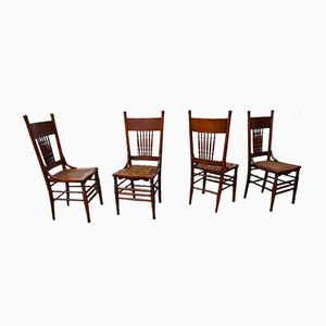 Antique Dining Chairs from Heywood Brothers & Wakefield Company Chicago, Set of 4