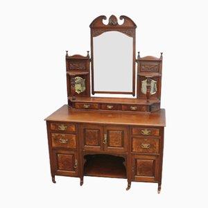 Mahogany Dressing Table with Mirror, 1920s