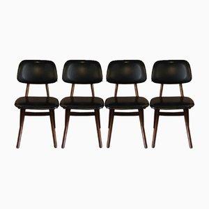 Scissor Chairs by Louis van Teeffelen for WéBé, 1950s, Set of 4