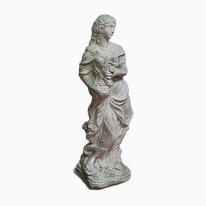 Vintage Stone Garden Statue of a Woman, 1950s