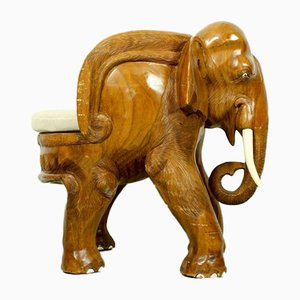 Chaise pour Enfant Elephant Carved Mid-Century, 1960s