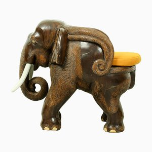 Mid-Century Carved Elephant Childrens Chair, 1960s