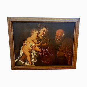 17th Century Sacra Famiglia Painting